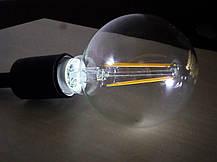 Лампа Эдисона светодиодная 7W Philips G93 2700K прозрачная, фото 3