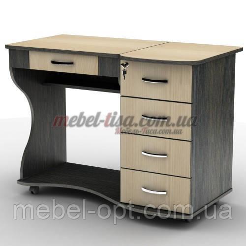 Компьютерный стол СУ-6к с ящиками и с регулируемым углом наклона столешницы
