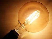 Лампа Эдисона светодиодная 7W Philips G120 2000K диммируемая цвет-шампань, фото 3