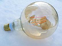 Лампа Эдисона светодиодная 7W Philips G120 2000K диммируемая цвет-шампань, фото 2