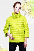 Модная курточка с  массивным воротником-стойкой на кулиске