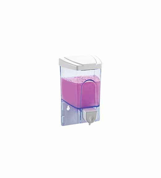 SS109 Дозатор жидкого мыла пластик прозрачный 500 мл