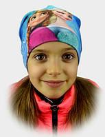 Шапка детская весенняя  девочки Фрозен, Холодное сердце