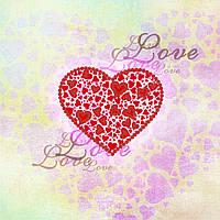 """Схема для вышивки бисером """"Love"""", набор-магнит 9,5х9,5 см"""