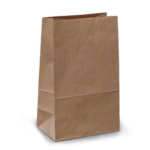 Крафт-пакеты 15x9x24 коричневые без ручек