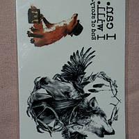 Флеш тату. Временная татуировка лиса волк конь 10.5 x 6 см