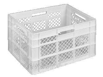 Пищевой пластиковый ящик 600х400х350
