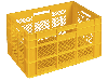 Пищевой пластиковый ящик 600х400х350, фото 2