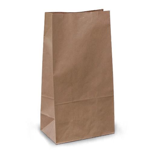 Крафт-пакеты 19х12х39 коричневые без ручек