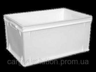 Пищевой пластиковый ящик 600х400х300 (Е3) литой контейнер