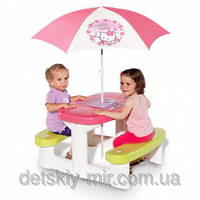 Детский Столик для Пикника с Зонтиком Hello Kitty Smoby