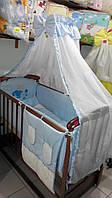 Комплект детского постельного белья на кроватку для новорожденного Мишка