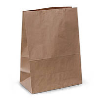Крафт-пакеты 28х13х38 коричневые без ручек
