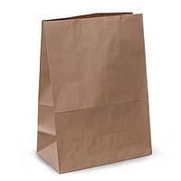 Крафт-пакеты 32х15х38 коричневые без ручек