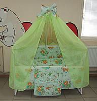 Набор  для сна новорожденного из 16 предметов! Кроватка-маятник + все необходимое для сна + Подарок
