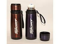 Термос Т68, Термос питьевой, Термос с поилкой, Термос 600мл, Компактный термос, Термос из нержавеющей стали