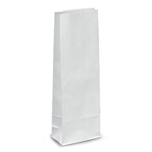 Крафт-пакеты 9x6,5x21 белые без ручек