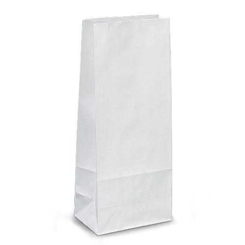 Крафт-пакеты 13x8x31 белые без ручек