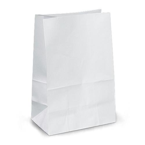 Крафт-пакеты 19х12х29 белые без ручек