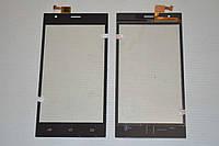 Оригинальный тачскрин / сенсор (сенсорное стекло) для Nomi i503 Jump (черный цвет) + СКОТЧ В ПОДАРОК