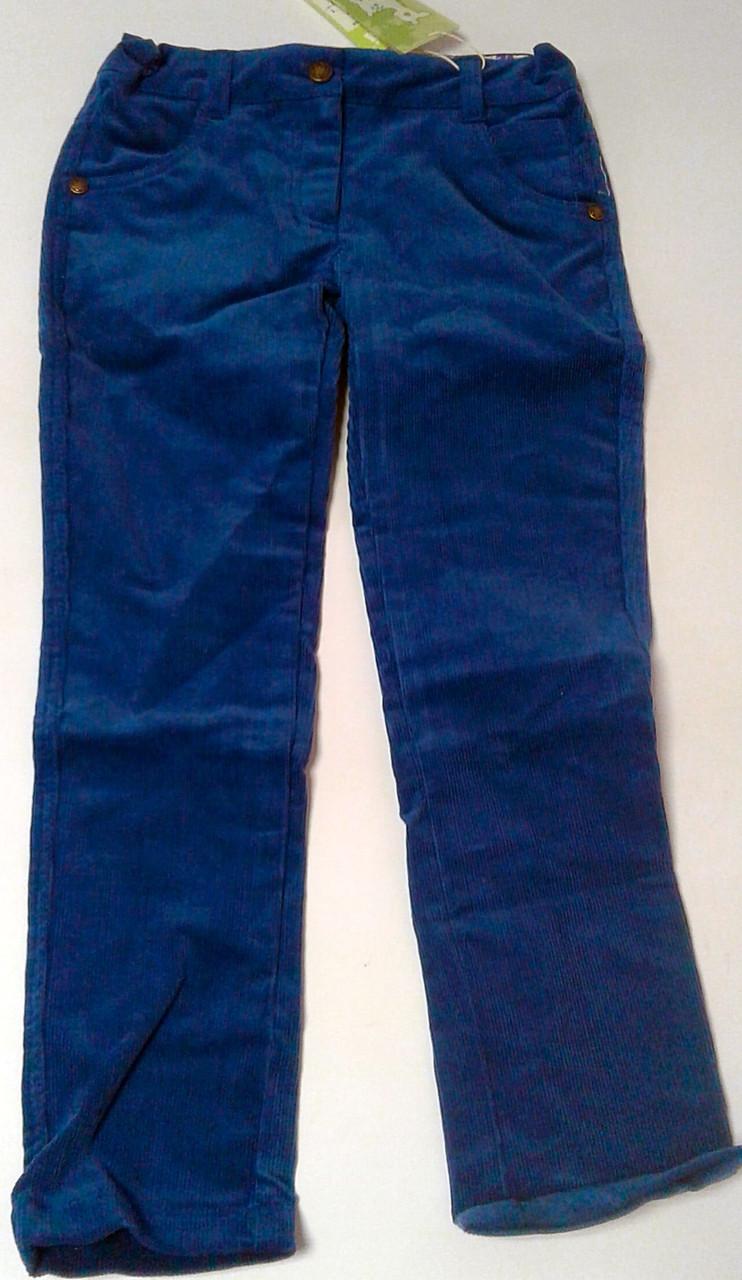 Штани для дівчаток Вельвет Сині 116 см 6 років 26321020441 ШР321 Бембі Україна