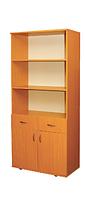 Шкаф книжный с 2 ящиками , 2 дверный 802х403х1816мм (380мм внутр.)