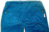 Штани для дівчаток Вельвет Сині 116 см 6 років 26321020441 ШР321 Бембі Україна, фото 3