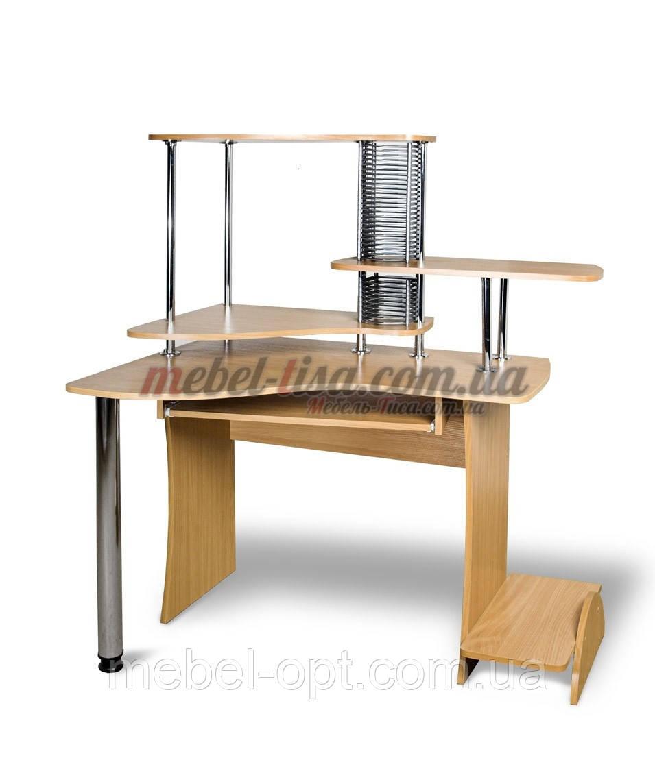 Компьютерный стол СК-Экстра (ольха темная, зеркальный)