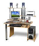 Компьютерный стол СК-Экстра (ольха темная, зеркальный), фото 2