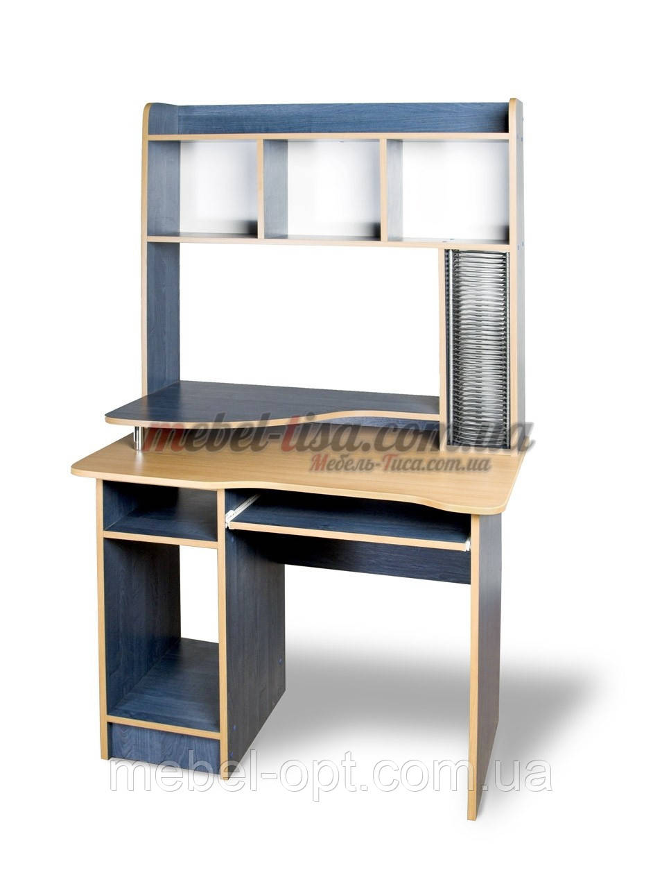 Компьютерный стол СКМ-2 (бук светлый)