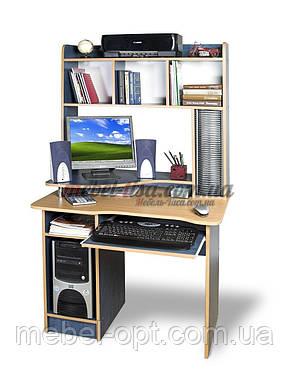 Компьютерный стол СКМ-2 (ольха темная, зеркальный), фото 2