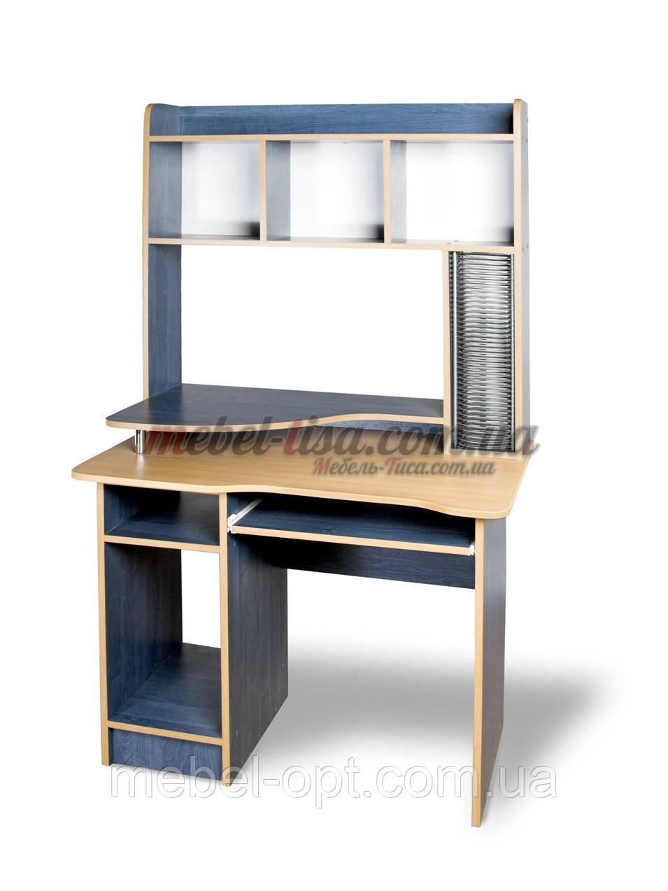 Компьютерный стол СКМ-2 (орех лесной. зеркальный)