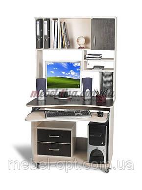 Компьютерный стол СК-5 (ольха темная), прямой компьютерный стол, фото 2