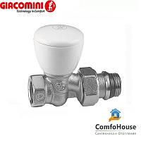 """Клапан радиаторный 1/2"""" Giacomini R6X033 прямой (ручной клапан)"""