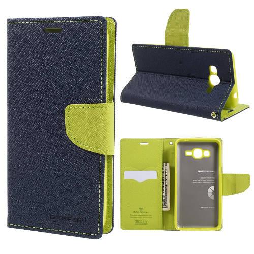 Чехол книжка для Samsung Galaxy J2 Prime G532 боковой, MERCURY GOOSPERY Fancy Diary, темно-синий