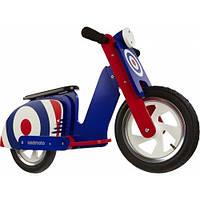 "12"" Kiddi Moto Scooter деревянный, синяя мишень"
