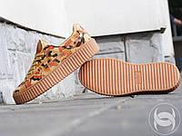 Кроссовки женские Rihanna x Puma Suede Creeper Camo 38