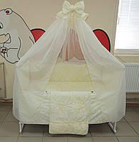 Детское постельное белье с кроваткой ! 16 предметов! Набор всего необходимого для сна.