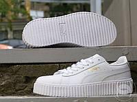 Кроссовки женские Rihanna x Puma Suede Creeper All White