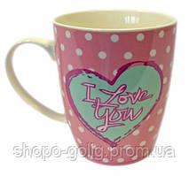 "Чашка ""I love you"" рожева 360 мл"