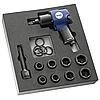 Набор ударного инструмента Набор ударного инструмента (гайковерт 3/4  1017 Nm, 8 головок, аксессуары) в ложементе (Артикул  E231103 )