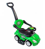 Машинка-каталка с толкателем Alexis-Babymix Z-382 (green)