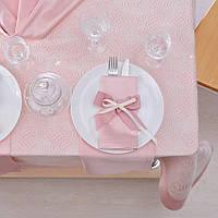 Скатерть с салфетками Престиж Скарлет 160*240 разные цвета