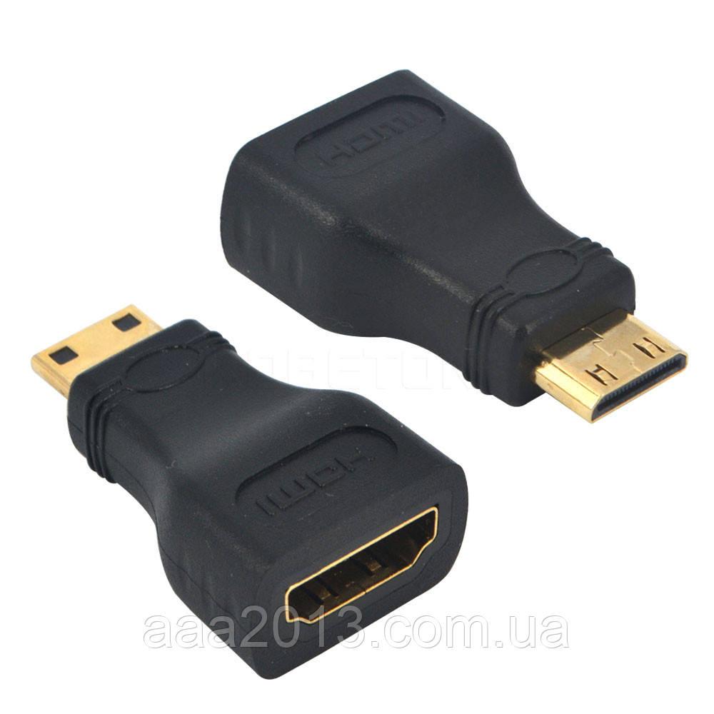 Переходник из mini HDMI на HDMI стандарт,  адаптер