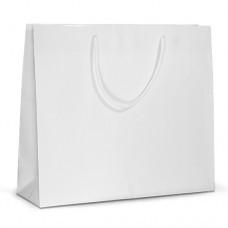 Бумажный пакет 42х13х37 белый с ручками
