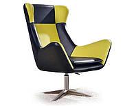 Кресло Halmar Atlas зеленый из мягкой экокожи