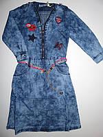 Джинсовое платье для девочек Seagull оптом, 134-164 рр.