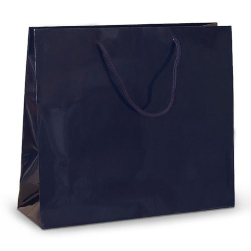 Бумажный пакет 42х13х37 синий с ручками