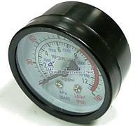 Манометр (большой) для компрессора 10 bar., 150 psi.