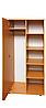 Шкаф для одежды и книг полузакрытый 1-дверный, 802х403х1816 мм (496мм внутр)